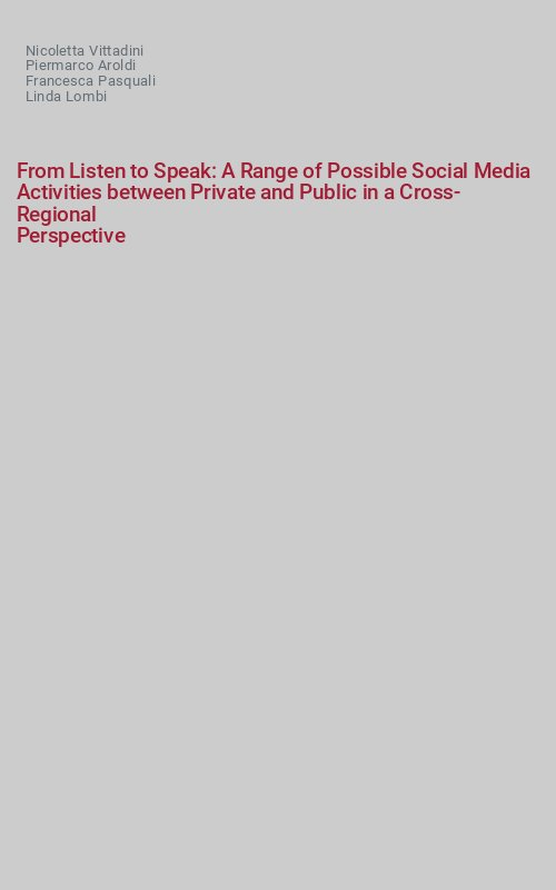 From Listen to Speak: A Range of Possible Social Media