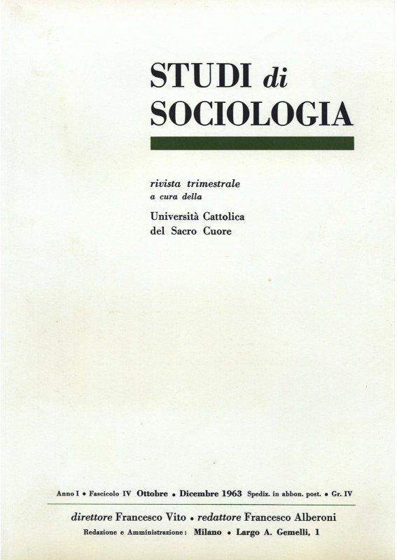 STUDI DI SOCIOLOGIA - 1963 - 1