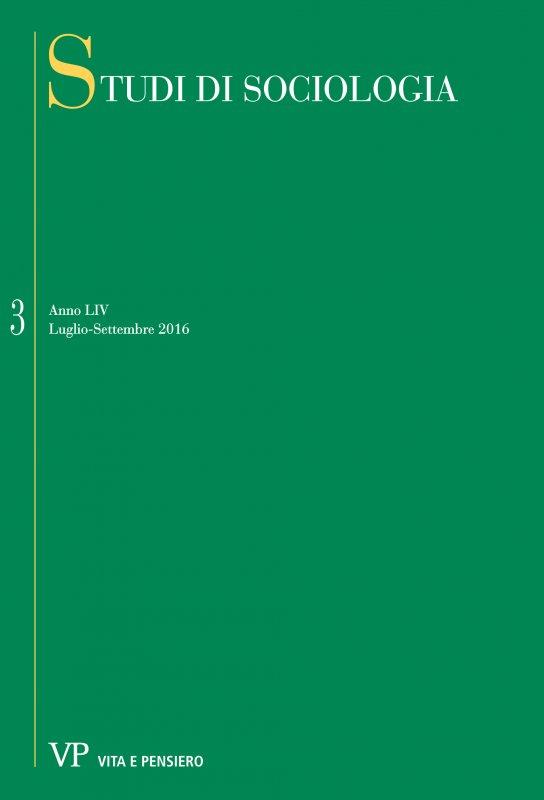 STUDI DI SOCIOLOGIA. Abbonamento annuale 2017